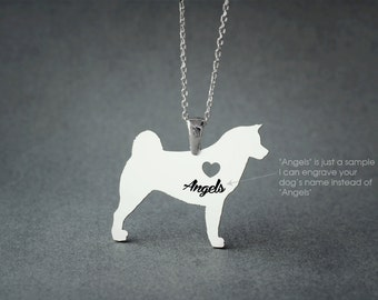 Akita NAME Necklace • Akita Inu • Name Necklace • Personalised Necklace • Custom Necklace • Dog Gift • Dog Necklace • Hachiko Necklace