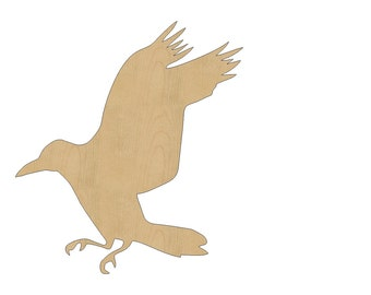 Bird Cutout Shape Laser Cut Unfinished Wood Shapes, Craft Shapes, Gift Tags, Ornaments #803 All Sizes