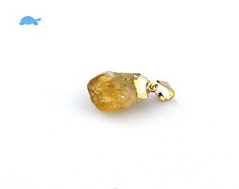 Citrine Pendant, Raw Citrine Pendant, Citrine Necklace, Citrine Point, Citrine Crystal, Citrine Gold, #204, Nautral Citrine,Citrine Gemstone
