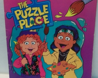 The Puzzle Place Paint With Water Landoll's  Unused Book  Puzzle Place Cartoon TV Show 1994-95