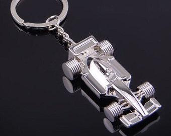 Formula 1, F1 Keyring, Racing Car Keyring, Racing Car Keychain, Formula 1 Gift, Car Keyring, Car Racing Gift, Formula 1 Fan, Racing Fan, Car