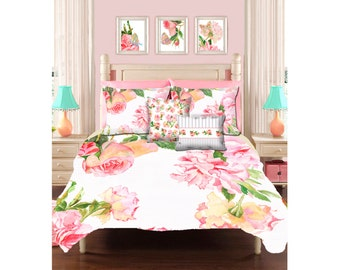 shabby chic bedding, teen bedding, shabby chic duvet girls duvet cover little girl bedding rose duvet cover queen duvet kids bedding bedroom