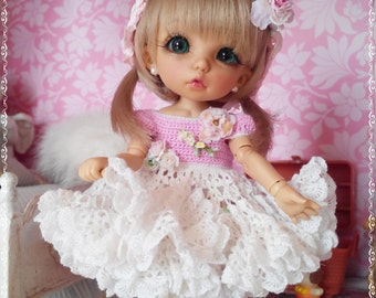 """Made to Order.Outfit """"Delicate shabby"""" for dolls format Tiny (PukiFee, Aquarius, Lati Yellow) Exclusive"""