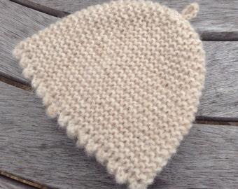 Baby hat / bonnet - NEW neutral Alpaca & merino wool new born baby hat by Willow Luxury