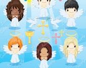 Angels clipart, angel clipart, holy clipart, Christian clipart, Catholic, church clipart, heaven -LN0122-