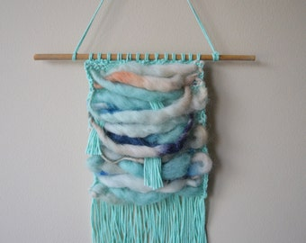 Mini Sea-Scape Knitted Woven Wall Hanging