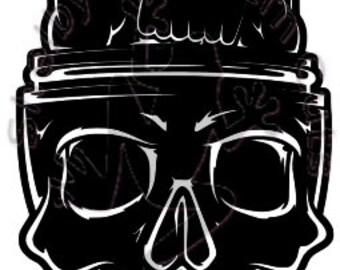 Skull Coil Brain SVG