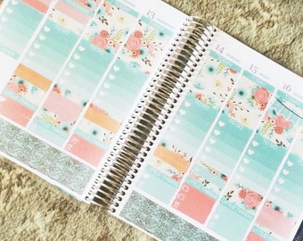 Spring Floral Weekly Sticker Kit for use with EC LifePlanner™/Happy Planners