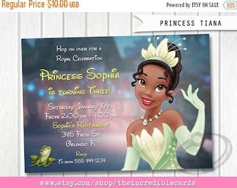 50% OFF SALE Princess Tiana Invitation, The Princess and the Frog Invitation, Tiana Birthday Invitation, Princess Invitation, Disney Princes