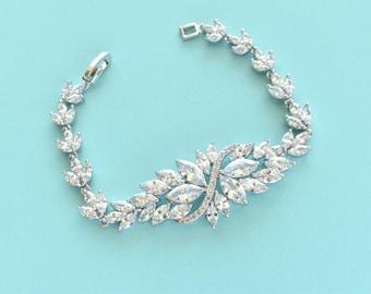 Bridal Bracelet Wedding Bracelet Cubic Zirconia Bracelet CZ Bracelet Wedding Accessories