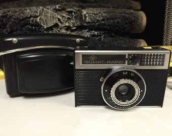 Vintage 1965 Agfa Iso-mat Rapid Camera with Case