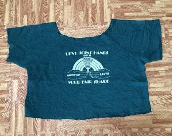 vintage Levis Join Hands crop cut sweatshirt