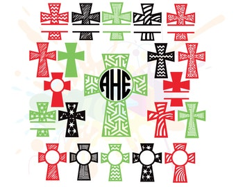 Christian SVG Files for Cutting Cricut Cross Designs - SVG Files for Silhouette - Instant Download