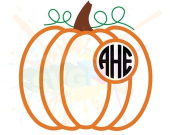 Monogram Pumpkin SVG Files for Cutting Cricut Designs - SVG Files for Silhouette - Instant Download