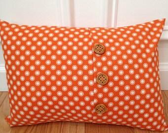 "Pillow Cover, Lumbar Pillow Cover, Envelope Accent Pillow Cover, 16"" x 12"" Lumbar Pillow Cover, Polka Dot Lumbar Pillow Cover"