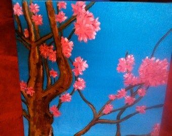 """Cherry Blossoms 10""""x10"""" Oil Painting"""