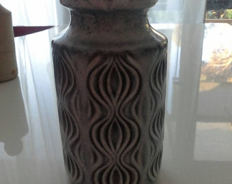 Retro Grey Scheurich Keramik Pottery Vase West Germany c 1960's 285-13