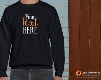 Custom sweatshirts / Custom crew-neck sweatshirts / Custom fleece / Classic Fit Adult Crewneck / Custom design / Custom Crewneck Sweatshirt