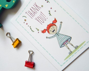 Redhead Thank You Card