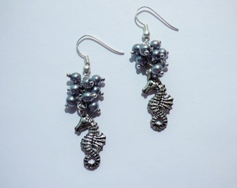 Seahorse Pearl  Earrings ARO74/AR105