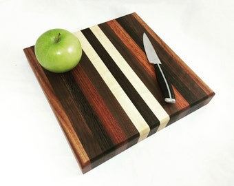 Exotic Wood Cutting Board - Cheese Board- Unisex Gift - Cook Gift - Retro Kitchen Decor - Anniversary - Groomsmen Gift - Gift for Him