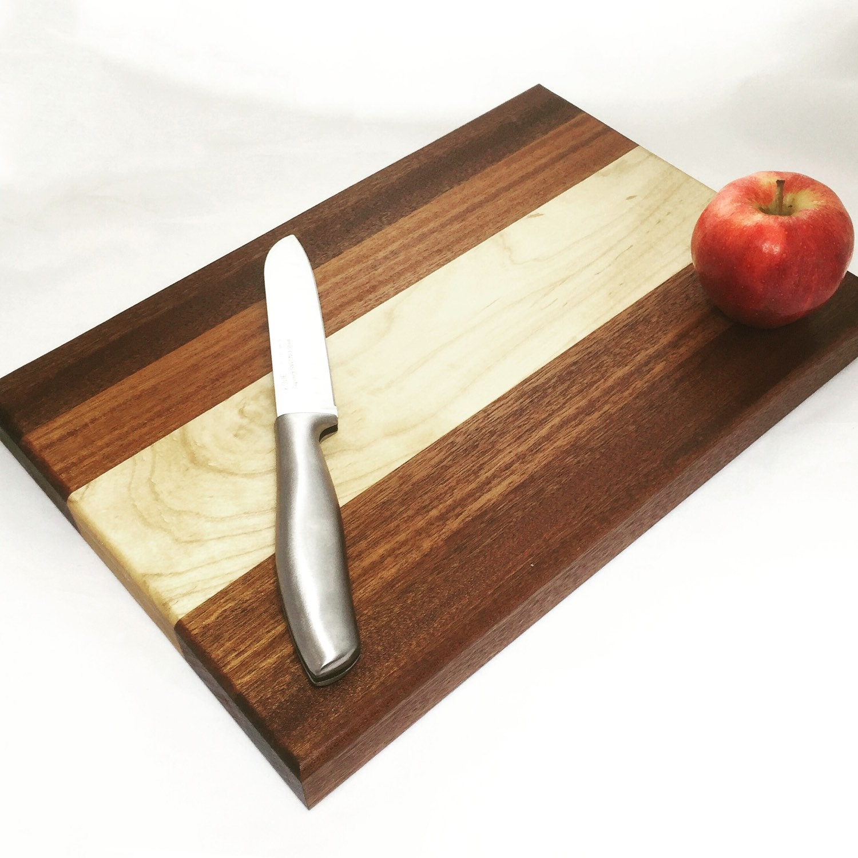 Wood Block Board ~ Wood butcher block cutting board mahogany maple sapele