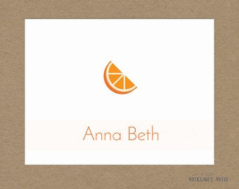 Personalized Citrus note cards