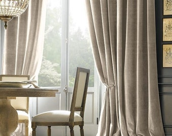 Beautifully Luxurious 100% Natural Velvet Drapery. All Handmade in Canada.  Available in 12 rich colors with vintage appeal. Designer Styles