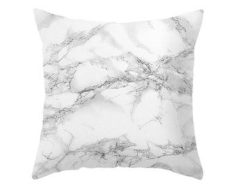 Marble Pillow, Texture Photo, White Stone, Marble Pattern, Minimalist Art, Traditional Design, Grey, Gray, Cushion Cover, Chic Throw Pillow