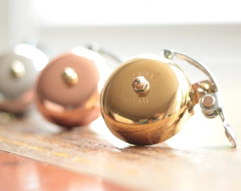 Handmade Classic Vintage Bicycle Bike Bell - Available in brass, silver and copper (rose gold) - Temple Cycles