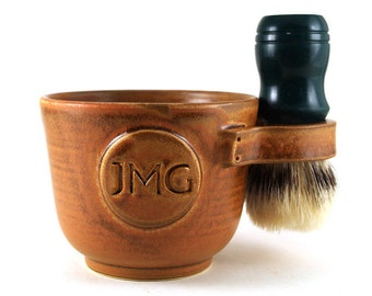 Personalized Shaving Mug: Custom Shave Mug with Initials - Brush NOT Included - Husband Gift Made to Order in 3-5 wks - See Item Details
