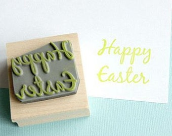 Small Happy Easter Sentiment Rubber Stamp - Easter stamp - Easter Card - Easter Rubber Stamp - Easter Craft - Easter Card - Easter Gift