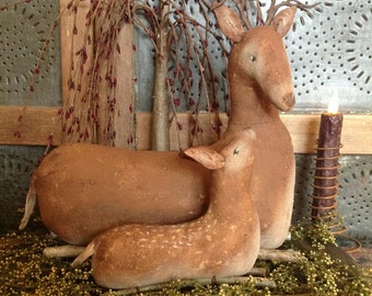 New Deer and Fawn
