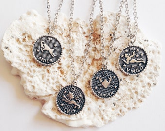 Zodiac | Star Sign Necklace | Aries, Virgo, Cancer, Aquarius, Capricorn, Scorpio, Leo, Libra, Pisces, Gemini, Taurus, Sagittarius