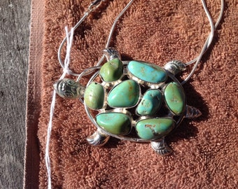 Turquoise turtle neckless