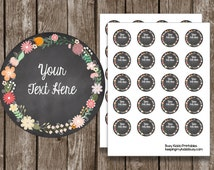 50% OFF SALE Round Chalkboard {Editable} Labels - Cards - Notes - Instant Download - Printable PDF files - Thank You - Organizing - Gifts