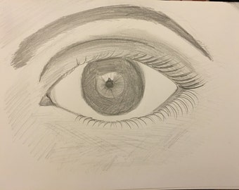 Window to the Soul 9 x 12 inch Strathmore Drawing Paper