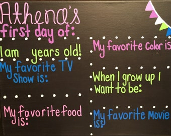 First Day of School Reusable Chalkboard