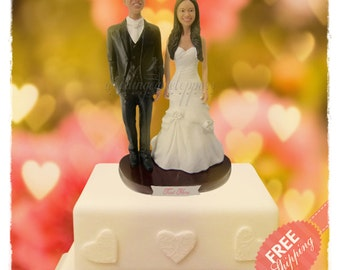 Beautiful wedding cake toppers Personalised cake toppers Unique wedding cake toppers Custom cake toppers Bride and groom cake toppers gift