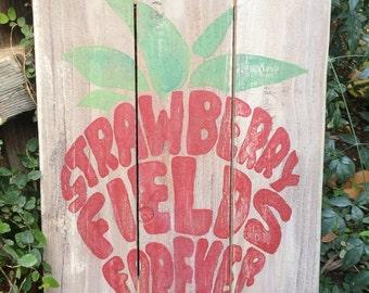 Strawberry Fields Forever Beatles Lyrics Sign