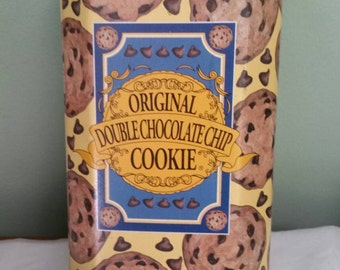 Original Double Chocolate Chip Tin Can Cookie Canister
