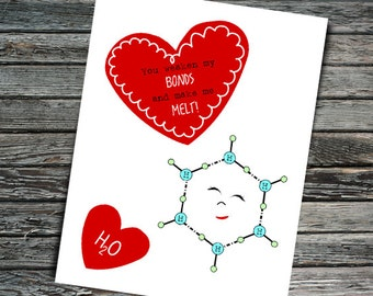 Melting Point Science Valentine | H2O Molecule, Student, Teacher,  Professor, Scientist,