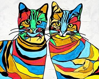 "Custom Pet Portrait Pop Art - 8"" x 11"", 11"" X 16"" upto 24"" X 36"""