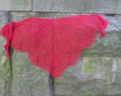 knitted red shawl red lace shawl handmade knitted red wrap warm shawl wool shawl gift for women red shawl knitted shawl with beads warm wrap