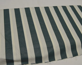 """Hunter Green & Cream 1/2"""" Stripe 44""""W Cotton Vintage Quilt Apparel Fabric Sold by the Yard"""