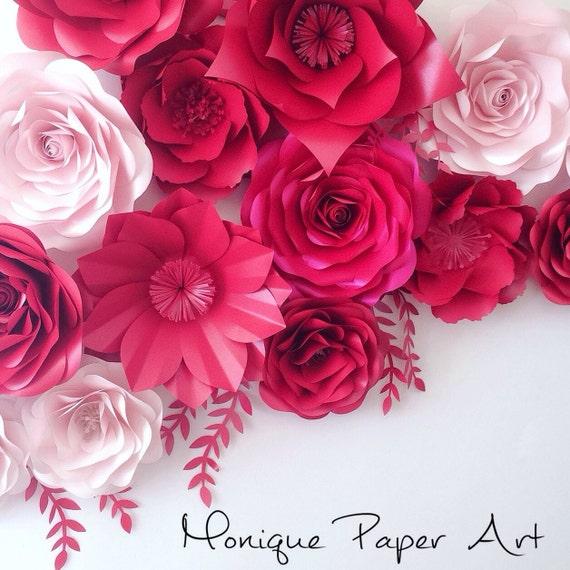 Paper Flower Backdrop Wedding Backdrop Large By MoniquePaperArt
