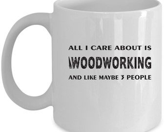 Woodworking Coffee Mug Perfect Gift for Your Dad, Mom, Boyfriend, Girlfriend, or Friend - Proudly Made in the USA!