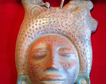 On Sale**Vintage Terra Cotta Mask/Tarascan Mask/Mexican Mask