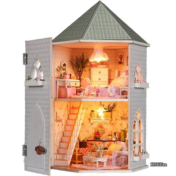 Diy Miniature Love Castle Dollhouse Miniature Handcraft By