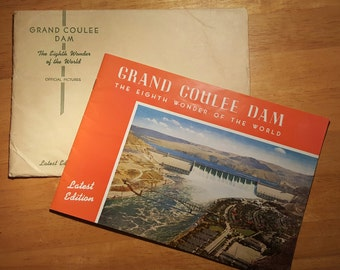 Lot of vintage 1940's ephemera for Grand Coulee Dam and The Dalles Dam